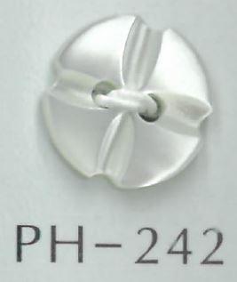 PH242 2穴花形貝ボタン 阪本才治商店/オークラ商事 - ApparelX アパレル資材卸通販