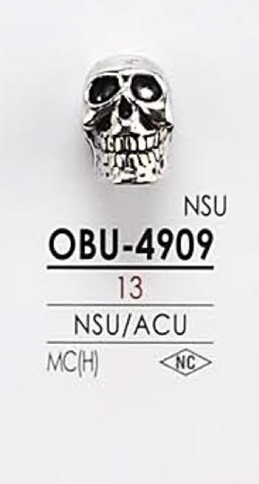 OBU4909 ドクロ型 メタルボタン アイリス/オークラ商事 - ApparelX アパレル資材卸通販