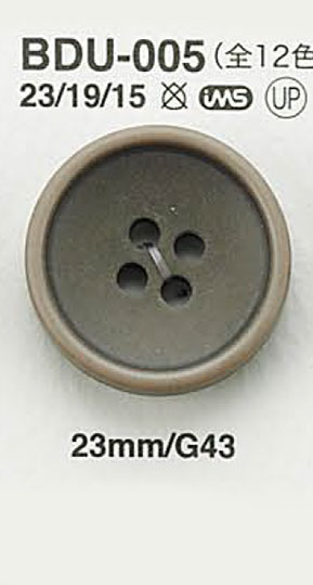 BDU005 ヴィンテージ仕上げボタン アイリス/オークラ商事 - ApparelX アパレル資材卸通販
