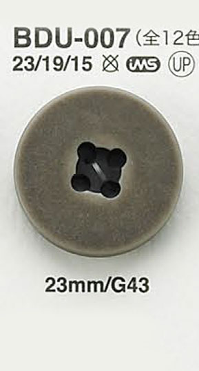 BDU007 ヴィンテージ仕上げボタン アイリス/オークラ商事 - ApparelX アパレル資材卸通販