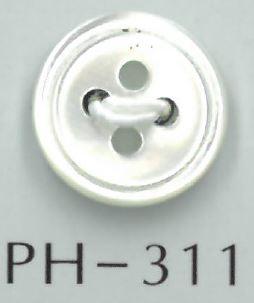 PH311 4穴ミゾ刻み貝ボタン 阪本才治商店/オークラ商事 - ApparelX アパレル資材卸通販