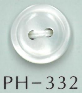 PH332 2穴フチ丸貝ボタン 阪本才治商店/オークラ商事 - ApparelX アパレル資材卸通販