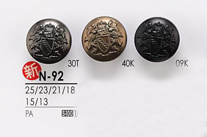 N92 メタルボタン アイリス/オークラ商事 - ApparelX アパレル資材卸通販