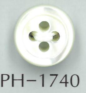 PH1740 17型4mm厚貝ボタン 阪本才治商店/オークラ商事 - ApparelX アパレル資材卸通販