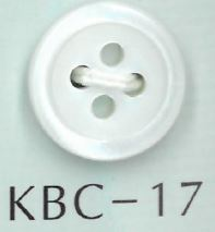 KBC-17 BIANCO SHELL4穴17型貝ボタン 阪本才治商店/オークラ商事 - ApparelX アパレル資材卸通販