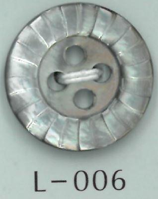 L-006 4穴フチボーダー貝ボタン 阪本才治商店/オークラ商事 - ApparelX アパレル資材卸通販