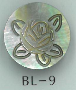 BL-9 バラ刻印金属足つき貝ボタン 阪本才治商店/オークラ商事 - ApparelX アパレル資材卸通販