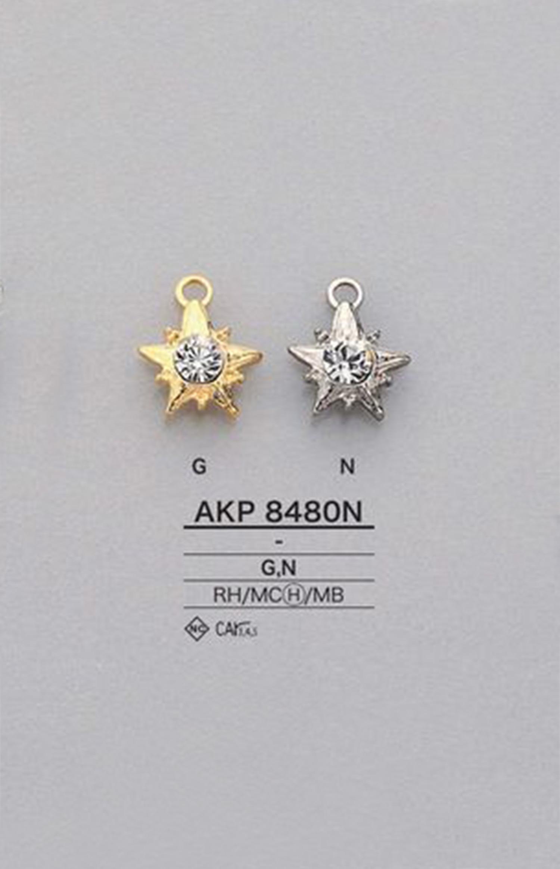 AKP8480N ラインストーン星型 ファスナーポイント(引手) アイリス/オークラ商事 - ApparelX アパレル資材卸通販