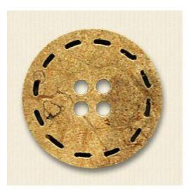 10045624 4穴ステッチ模様入ウッドボタン オークラ商事 - ApparelX アパレル資材卸通販