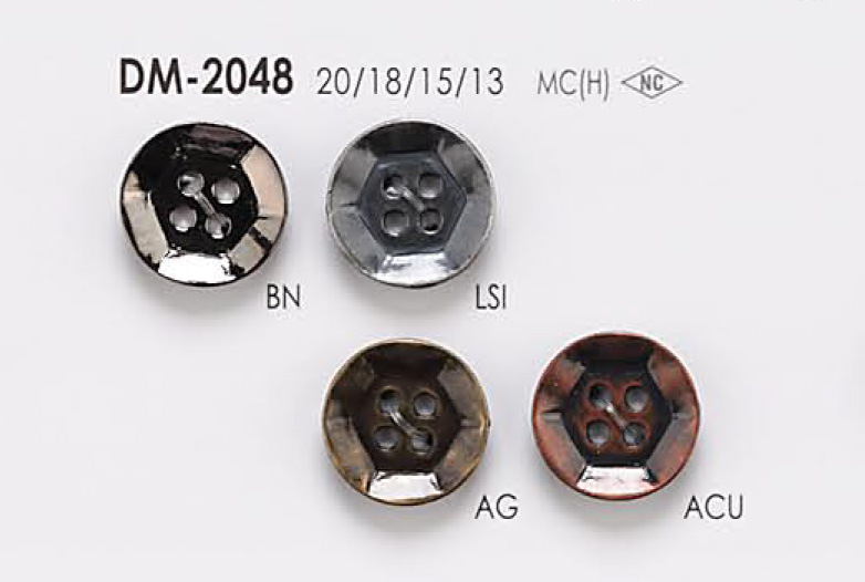 DM2048 ジャケット・スーツ用 4つ穴 メタルボタン アイリス/オークラ商事 - ApparelX アパレル資材卸通販