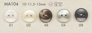 MA104 DAIYA BUTTONS 貝調ポリエステルボタン 大阪プラスチック工業(DAIYA BUTTON)/オークラ商事 - ApparelX アパレル資材卸通販