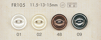FR105 DAIYA BUTTONS 貝調ポリエステルボタン(猫目) 大阪プラスチック工業(DAIYA BUTTON)/オークラ商事 - ApparelX アパレル資材卸通販