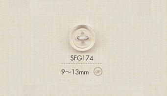 SFG174 DAIYA BUTTONS 四つ穴クリアボタン 大阪プラスチック工業(DAIYA BUTTON)/オークラ商事 - ApparelX アパレル資材卸通販