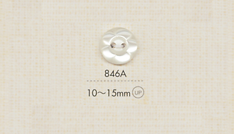 846A DAIYA BUTTONS 二つ穴ポリエステルボタン(花形) 大阪プラスチック工業(DAIYA BUTTON)/オークラ商事 - ApparelX アパレル資材卸通販