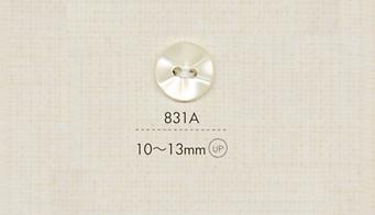 831A DAIYA BUTTONS 二つ穴ポリエステルボタン 大阪プラスチック工業(DAIYA BUTTON)/オークラ商事 - ApparelX アパレル資材卸通販