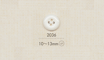 2036 DAIYA BUTTONS 四ツ穴ポリエステルボタン 大阪プラスチック工業(DAIYA BUTTON)/オークラ商事 - ApparelX アパレル資材卸通販