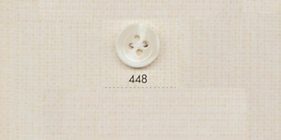 448 DAIYA BUTTONS 四つ穴水牛調ポリエステルボタン(白) 大阪プラスチック工業(DAIYA BUTTON)/オークラ商事 - ApparelX アパレル資材卸通販