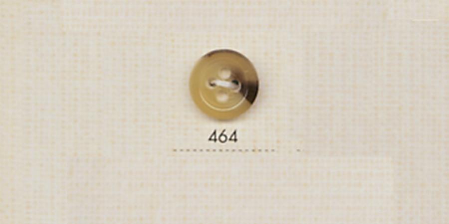 464 DAIYA BUTTONS 四つ穴水牛調ポリエステルボタン(黄土色) 大阪プラスチック工業(DAIYA BUTTON)/オークラ商事 - ApparelX アパレル資材卸通販