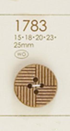 1783 天然素材 幾何学 4つ穴 ウッドボタン 大阪プラスチック工業(DAIYA BUTTON)/オークラ商事 - ApparelX アパレル資材卸通販
