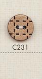 C231 天然素材 2つ穴 ステッチ風 ウッドボタン 大阪プラスチック工業(DAIYA BUTTON)/オークラ商事 - ApparelX アパレル資材卸通販