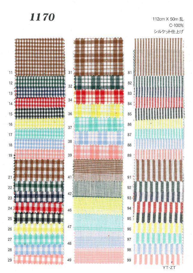 1170 ストライプ・チェック[生地] 植山織物/オークラ商事 - ApparelX アパレル資材卸通販