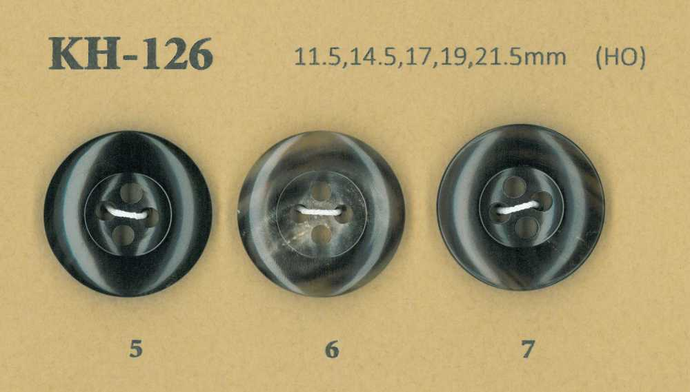 KH-126 水牛 艶あり 4つ穴 ホーン ボタン 幸徳ボタン/オークラ商事 - ApparelX アパレル資材卸通販