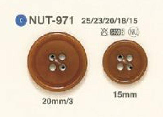 NUT-971 天然素材 ナット 4つ穴 ボタン アイリス/オークラ商事 - ApparelX アパレル資材卸通販