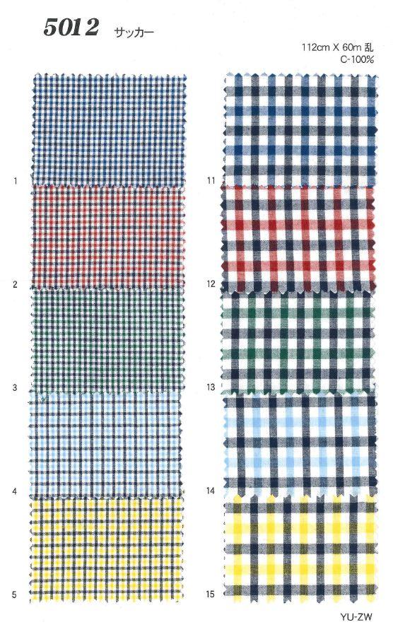 MU5012 サッカーチェック[生地] 植山織物/オークラ商事 - ApparelX アパレル資材卸通販