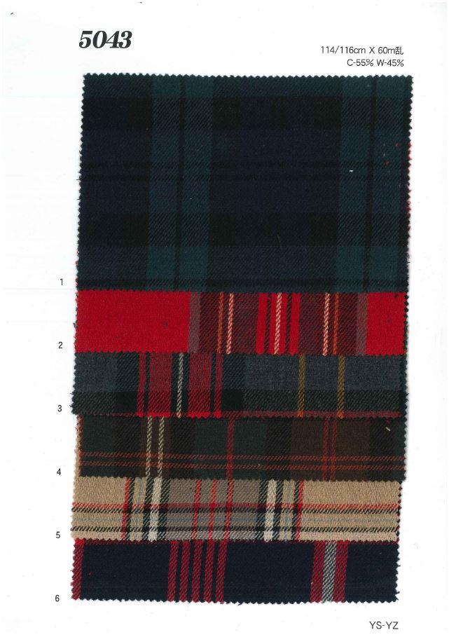 MU5043 綿ウールチェック[生地] 植山織物/オークラ商事 - ApparelX アパレル資材卸通販