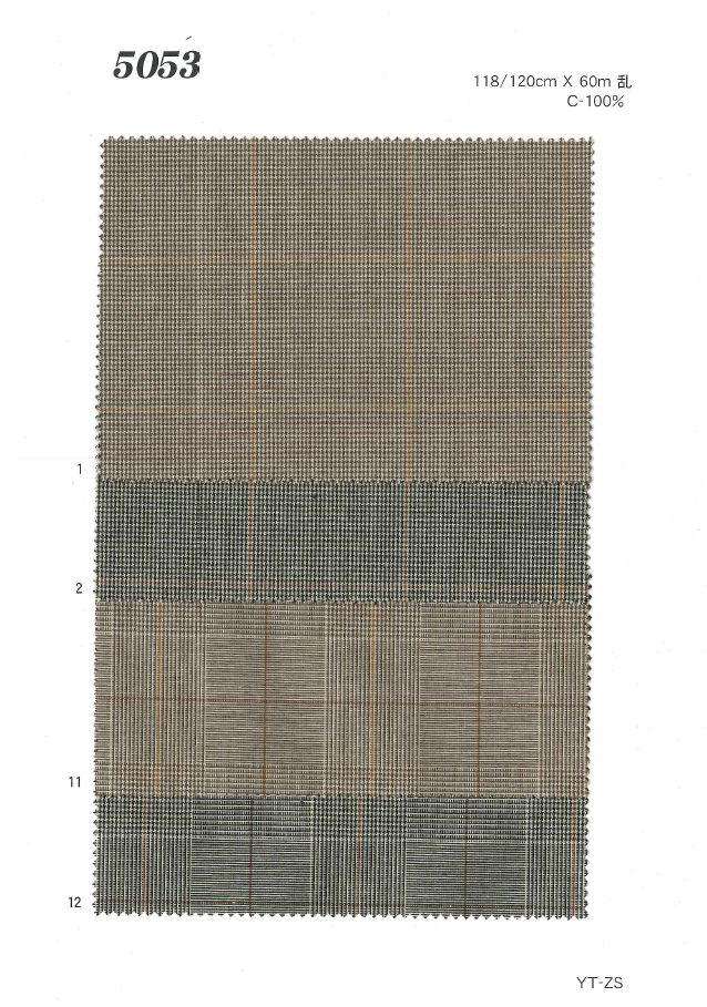 MU5053 グレンチェック[生地] 植山織物/オークラ商事 - ApparelX アパレル資材卸通販
