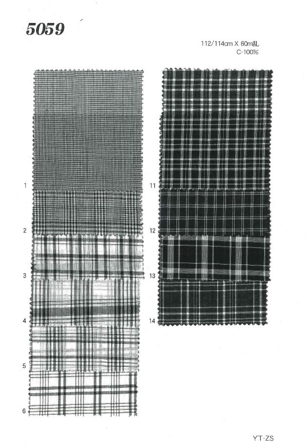 MU5059 ローンチェック[生地] 植山織物/オークラ商事 - ApparelX アパレル資材卸通販