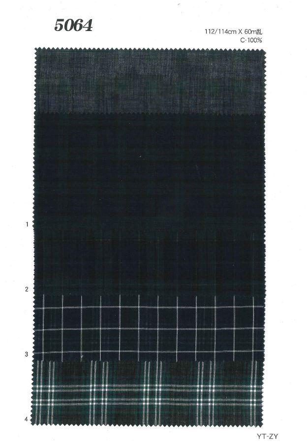 MU5064 ローンチェック[生地] 植山織物/オークラ商事 - ApparelX アパレル資材卸通販