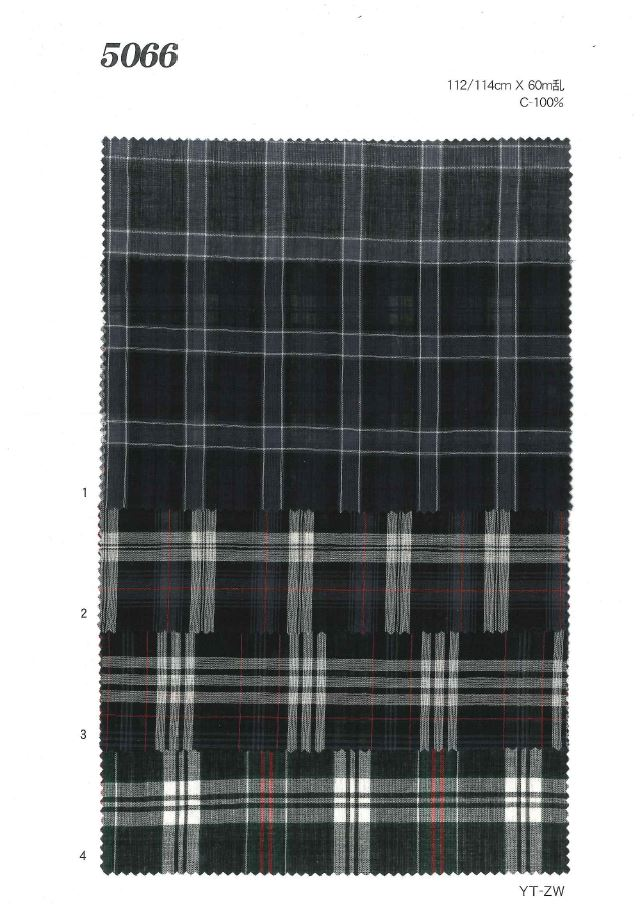 MU5066 ローンチェック[生地] 植山織物/オークラ商事 - ApparelX アパレル資材卸通販