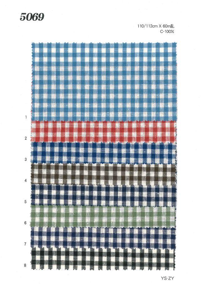 MU5069 ネップ入りギンガムチェック[生地] 植山織物/オークラ商事 - ApparelX アパレル資材卸通販