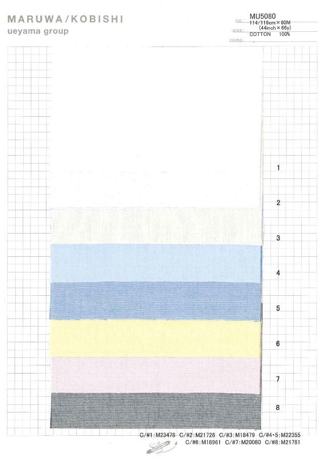 MU5080 ピンポイントオックス[生地] 植山織物/オークラ商事 - ApparelX アパレル資材卸通販