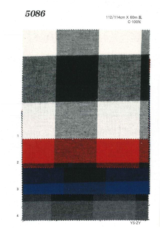 MU5086 起毛ブロックチェック[生地] 植山織物/オークラ商事 - ApparelX アパレル資材卸通販