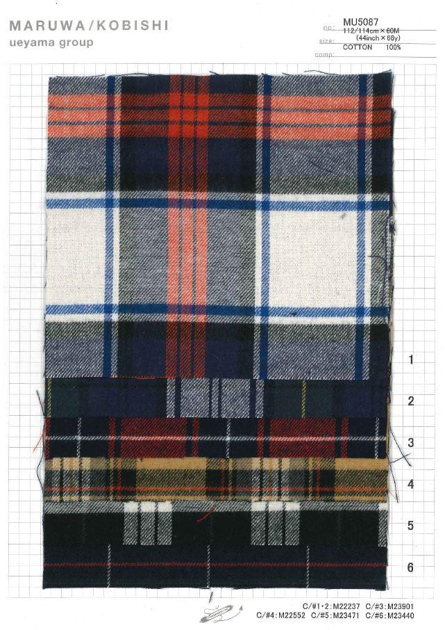 MU5087 起毛タータンチェック[生地] 植山織物/オークラ商事 - ApparelX アパレル資材卸通販