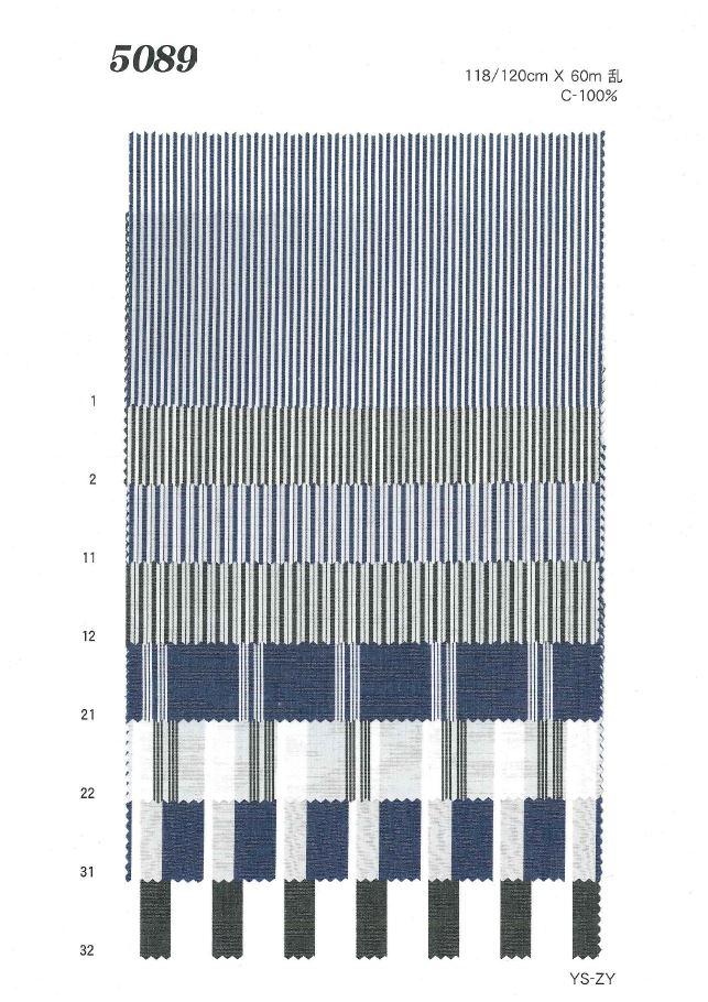 MU5089 タイプライターストライプ[生地] 植山織物/オークラ商事 - ApparelX アパレル資材卸通販