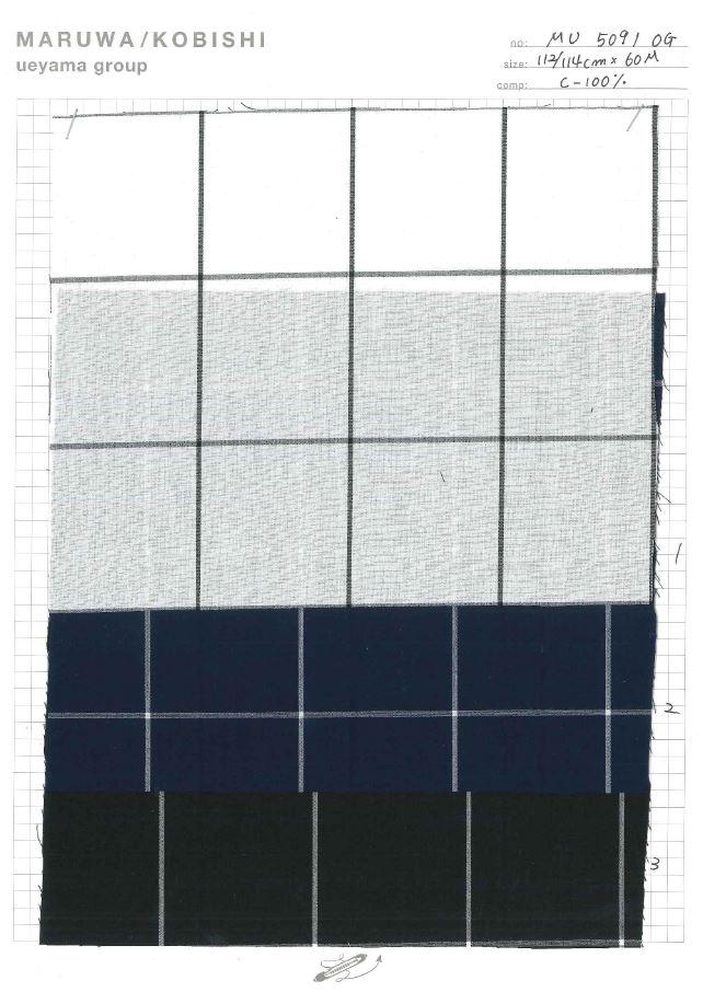 MU5091 タイプライターチェック[生地] 植山織物/オークラ商事 - ApparelX アパレル資材卸通販