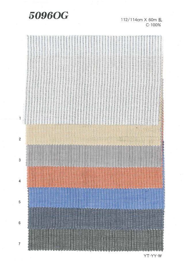 MU5096 ダブルガーゼストライプ[生地] 植山織物/オークラ商事 - ApparelX アパレル資材卸通販