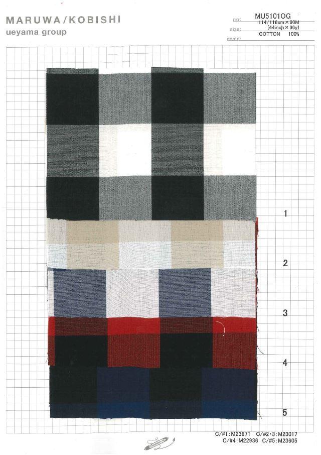 MU5101OG タイプライターブロックチェック[生地] 植山織物/オークラ商事 - ApparelX アパレル資材卸通販