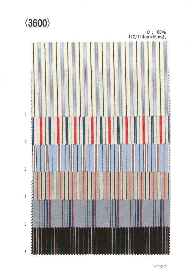 3600 先染ストライプ[生地] 植山織物/オークラ商事 - ApparelX アパレル資材卸通販