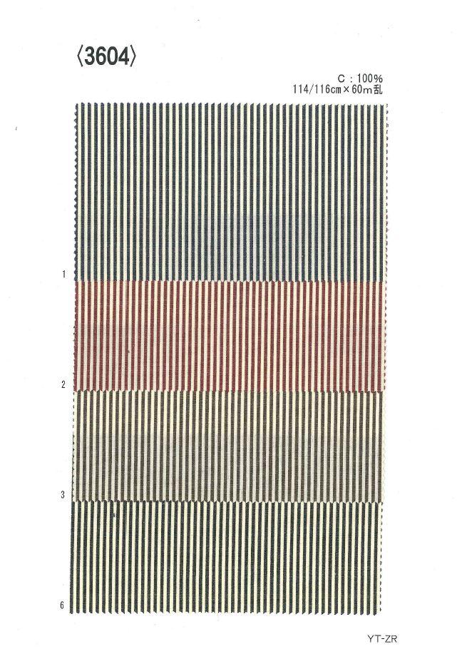 3604 先染有色ストライプ[生地] 植山織物/オークラ商事 - ApparelX アパレル資材卸通販