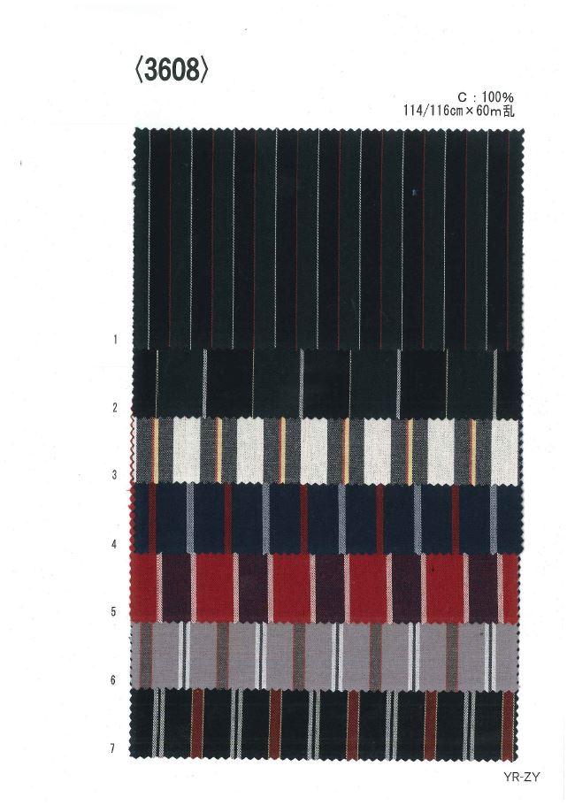 3608 先染レジメンタルストライプ[生地] 植山織物/オークラ商事 - ApparelX アパレル資材卸通販