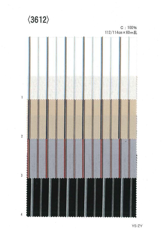 3612 先染ストライプ[生地] 植山織物/オークラ商事 - ApparelX アパレル資材卸通販