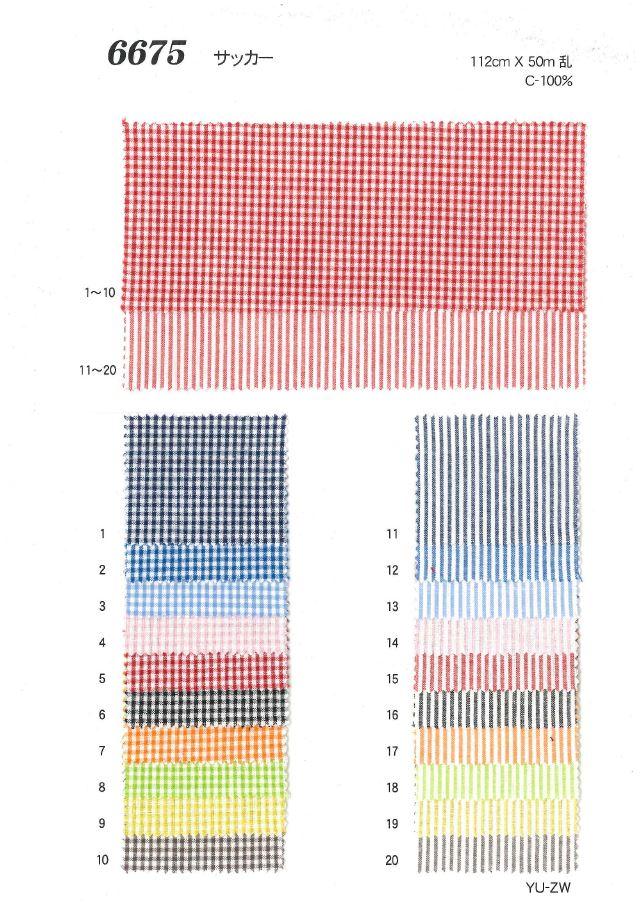 6675 サッカー[生地] 植山織物/オークラ商事 - ApparelX アパレル資材卸通販