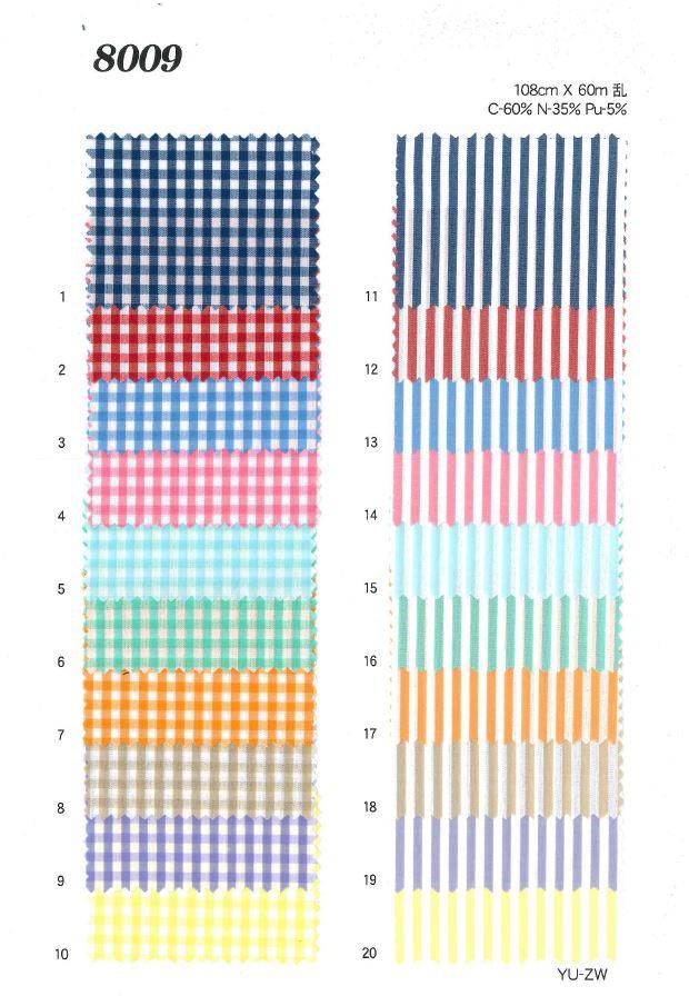 8009 ストレッチギンガム[生地] 植山織物/オークラ商事 - ApparelX アパレル資材卸通販