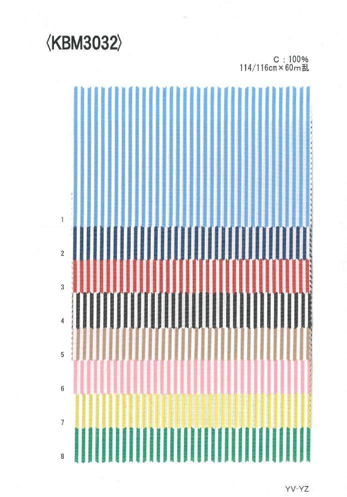 KBM3032 先染ロンドンストライプ[生地] 植山織物/オークラ商事 - ApparelX アパレル資材卸通販