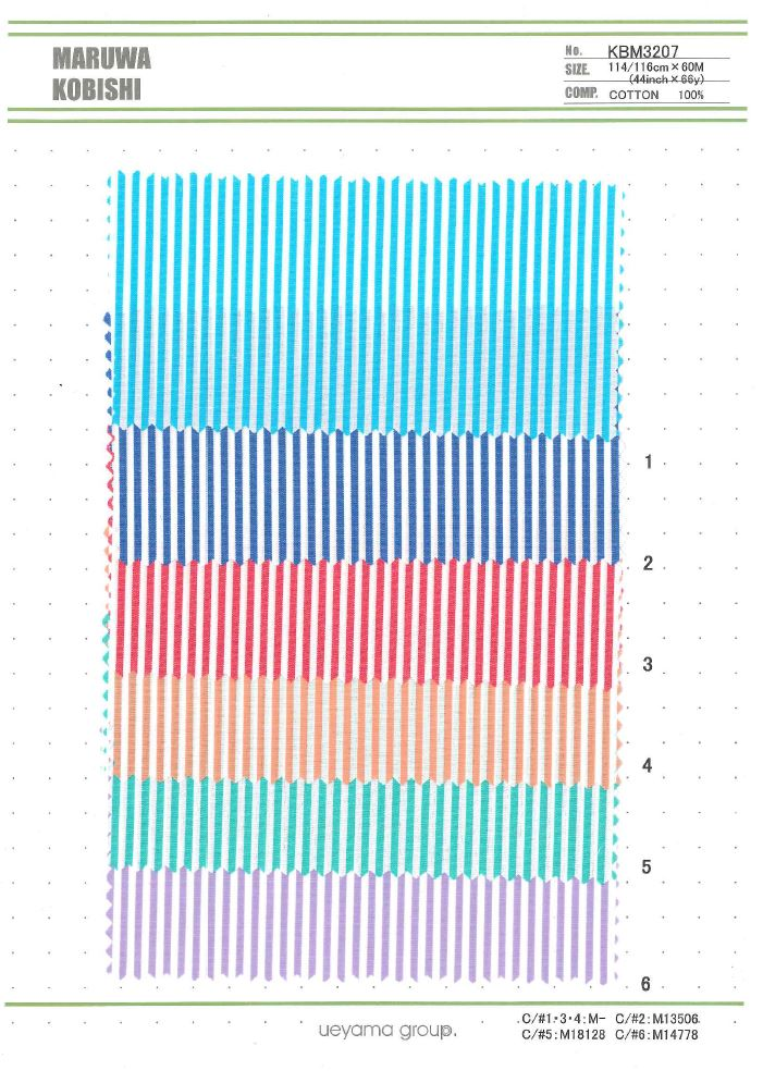 KBM3207 先染ロンドンストライプ[生地] 植山織物/オークラ商事 - ApparelX アパレル資材卸通販