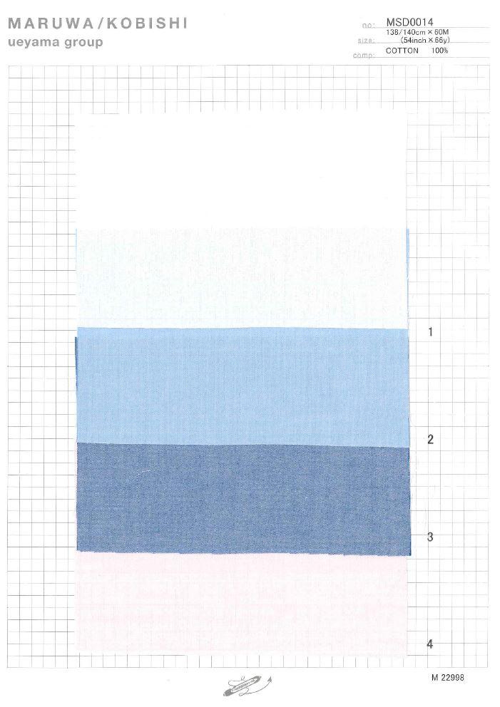 MSD0014 ナチュラルストレッチピンポイントオックス[生地] 植山織物/オークラ商事 - ApparelX アパレル資材卸通販